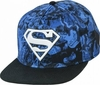 Superman All Over Print Camo Blue Snapback