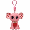 Tender The Pink Elephant With Heart (Plastic Key Clip) - TY Beanie Boos