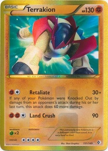 Terrakion 151/149 - Pokemon Boundaries Crossed Ultra Rare Card