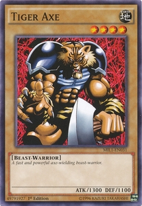 Tiger Axe MIL1-EN031 Common - YuGiOh Millennium Pack Card ...
