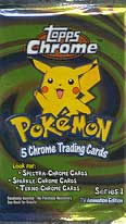 Topps Pokemon Chrome Series 1 Card Pack