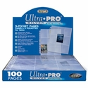 Ultra Pro 9-Pocket Pages Silver Series (100 Plastic Sheets)