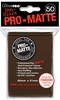 Ultra Pro Pro-Matte Standard Sized Sleeves - Brown (50 Card Sleeves)