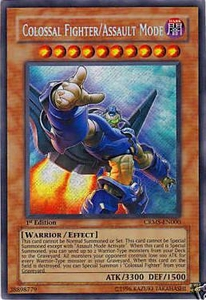 YuGiOh Card CRMS-EN000 Colossal Fighter Assault Mode Secret Rare
