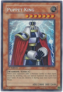 YuGiOh Crimson Crisis Card CRMS-EN093 Puppet King Secret Rare