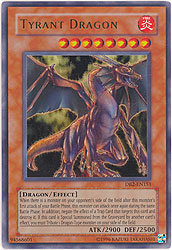 YuGiOh Dark Beginning 2 Ultra Rare Card - Tyrant Dragon DB2-EN151