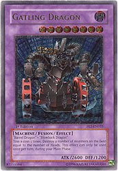 YuGiOh Flaming Eternity - Gatling Dragon (Secret Rare Holofoil)