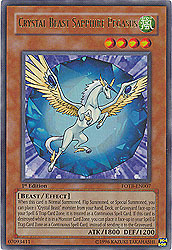 YuGiOh! Force of the Breaker Crystal Beast Sapphire Pegasus FOTB-EN007 Holofoil Card