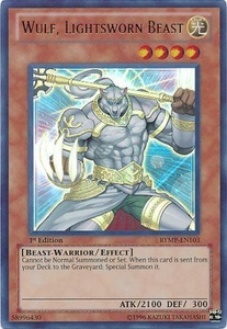 YuGiOh Ra Yellow Ultra Rare Card - Wulf, Lightsworn Beast RYMP-EN103