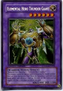 YuGiOh Rare Promo Card - Elemental Hero Thunder Giant EHC2-EN004
