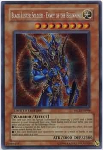 YuGiOh Secret Rare Promo Card - Black Luster Soldier Envoy of the Beginning MC2-EN004