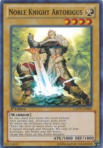 YuGiOh Super Rare Card - Noble Knight Artorigus GAOV-EN000