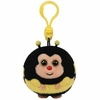 Zips The Bumble Bee (Plastic Key Clip) - TY Beanie Ballz