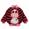 Zoey The Pink & Black Striped Monster (Regular Size) - TY Monstaz