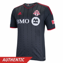 Toronto FC adidas 2014 Authentic Short Sleeve Away Jersey - Dark Grey
