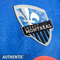 Montreal Impact adidas 2014 Authentic Long Sleeve Home Jersey - White/Blue<br><b><i>Pre-Order: Ships March 20th</i></b>