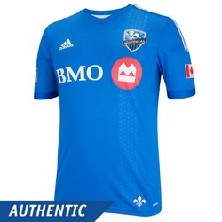 Montreal Impact adidas 2014 Authentic Short Sleeve Home Jersey - White/Blue<br><b><i>Pre-Order: Ships March 20th</i></b>