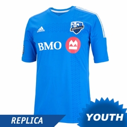 Montreal Impact adidas 2014 Youth Replica Short Sleeve Home Jersey - White/Blue<br><b><i>Pre-Order: Ships March 20th</i></b>
