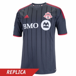 Toronto FC adidas 2014 Replica Short Sleeve Away Jersey - Dark Grey