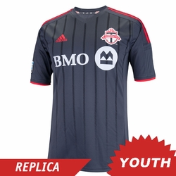 Toronto FC adidas 2014 Youth Replica Short Sleeve Away Jersey - Dark Grey<br><b><i>Pre-Order: Ships March 20th</i></b>