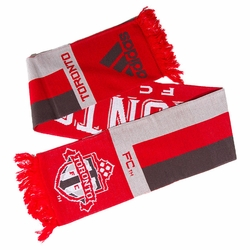 Toronto FC adidas Jacquard Team Scarf - Red/White/Grey