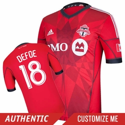 Toronto FC adidas Authentic Short Sleeve Primary Jersey - Light Scarlet/Solid Grey<br><b><i>Choose a player or Personalize your jersey!</i></b>