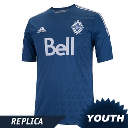 Vancouver Whitecaps FC adidas 2014 Youth Replica Short Sleeve Alternate Jersey - Navy