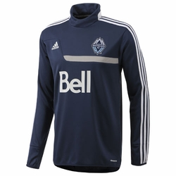 Vancouver Whitecaps FC adidas ClimaWarm Long Sleeve Training Top - Navy