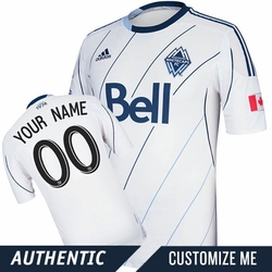 Vancouver Whitecaps FC adidas Authentic Custom Player Short Sleeve Primary Jersey - White/Deep Sea<br><b><i>Choose a player or Customize your jersey!</i></b>