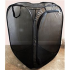 "Butterfly Popup Cage without vinyl window Black 24"" by 24"" by 36"""