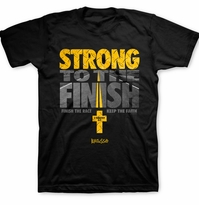 Finish The Race Strong Men's Christian Shirt