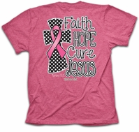 Jesus: Faith Hope Cure Cancer Romans 12:12 Christian T-Shirt