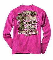 Jesus Lovin' Country Girl Camo and Pearls Christian Shirt