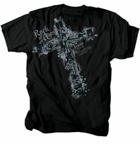 Rock Of Ages Music Cross Christian T-Shirt