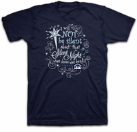 Silent Night Luke 2:9-11 Christian T-Shirt