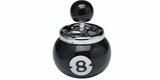 8 Ball Push Button Ash Tray
