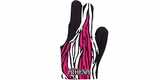 Athena Zebra Billiard Glove