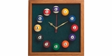 Square Billiards Clock