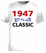 1947 Classic 65th Birthday Gifts T-Shirt
