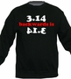 3.14 Backwards Is Pie Math Funny Crewneck Sweater