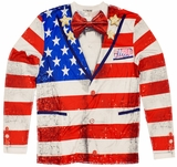 American Tuxedo USA Flag Long Sleeve T-Shirt