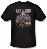 Axe Cop Retro Painting T-Shirt