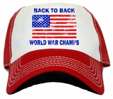 Back To Back World War Champions Vintage Trucker Hat