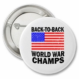 Back to Back World War Champs Retro Button