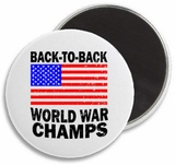 Back to Back World War Champs Retro Magnet