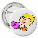 "Be Mine Boy Cartoon Valentine's 2.25"" Button"