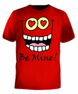 Be Mine Funny Cartoon Face Valentines T-Shirt