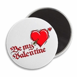 "Be Mine Heart Arrow Valentine's 2.25"" Fridge Magnet"