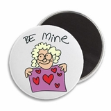 "Be Mine Heart Funny Valentine's 2.25"" Magnet"