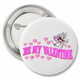Be My Valentine Angel Cute Button